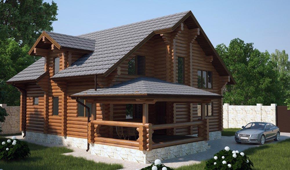Строительство домов из бревна проекты и цены