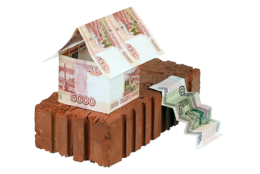 Кирпич и российсские рубли