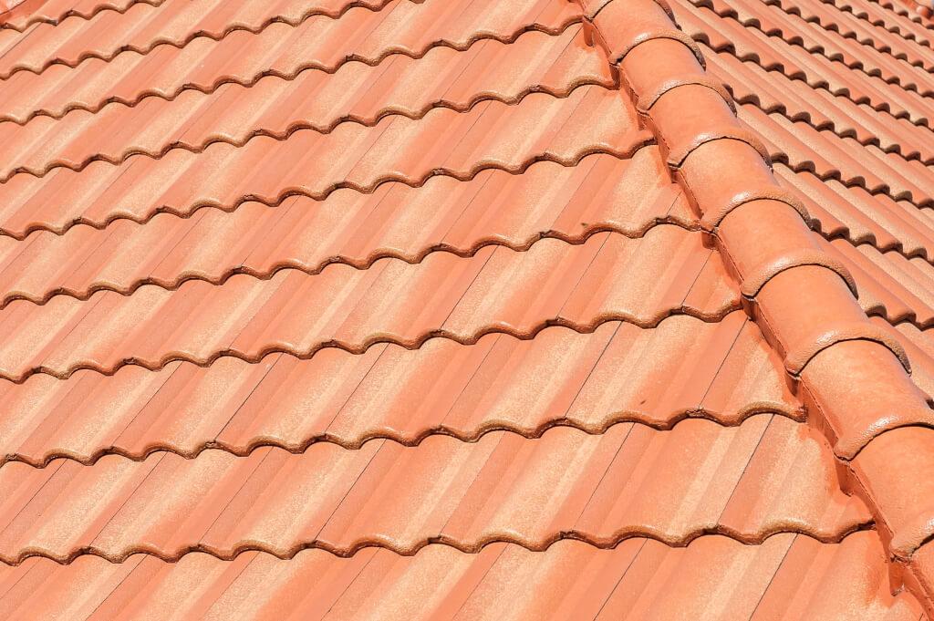 Крыша с керамической черепицей