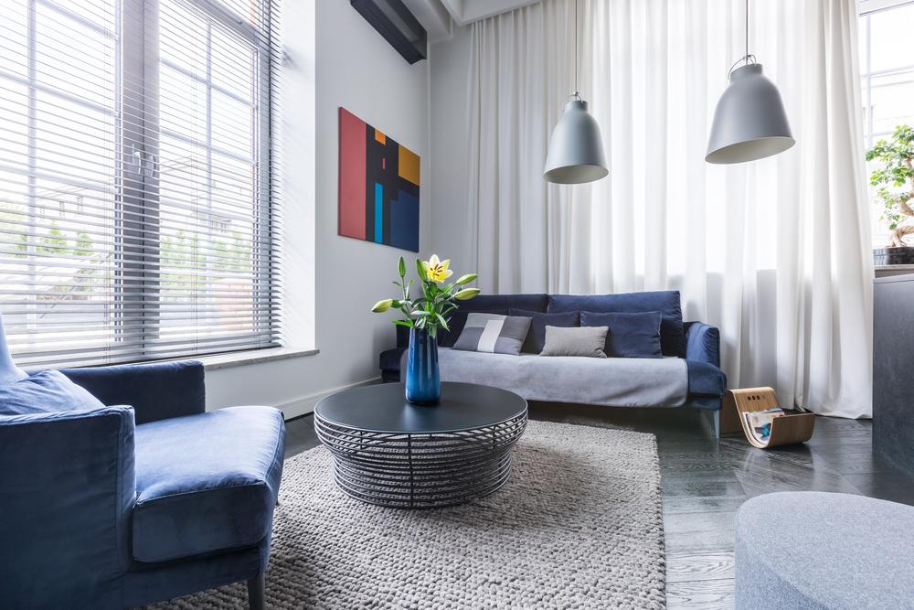 Красивая гостиная с новой мебелью