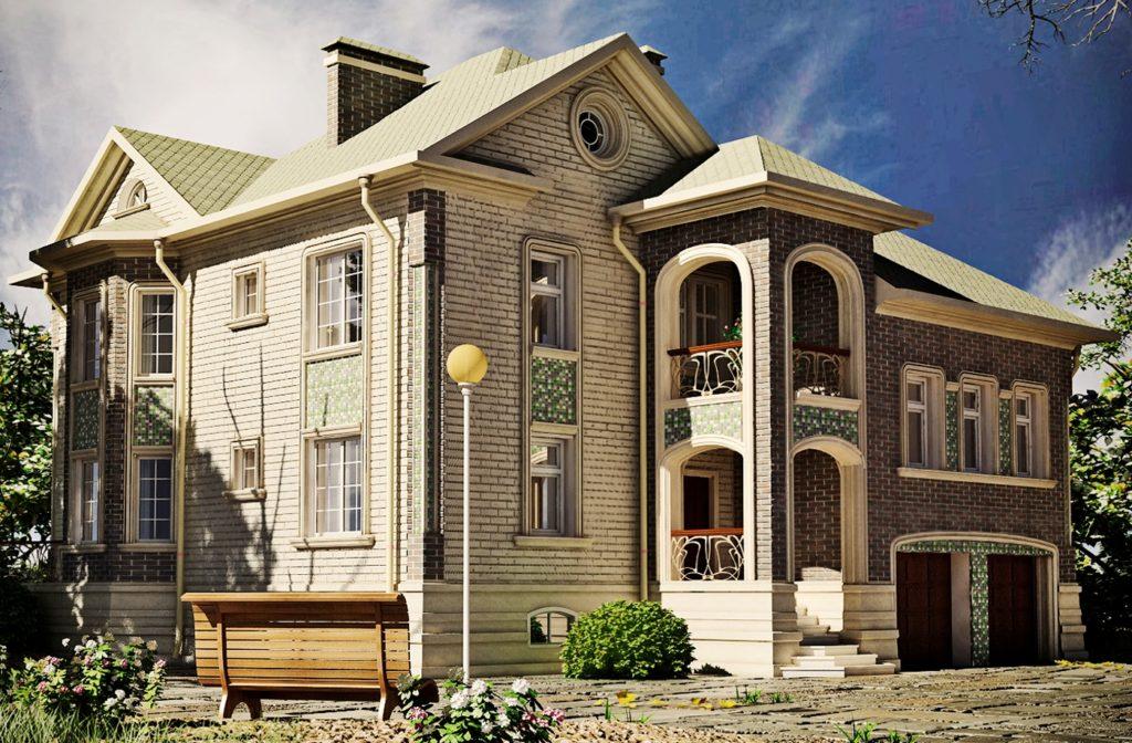 строительство дома из пеноблоков проекты