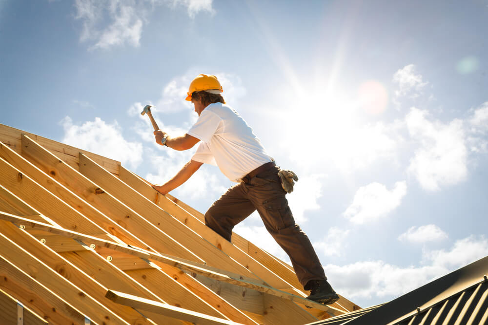 Создание опорного скелета крыши